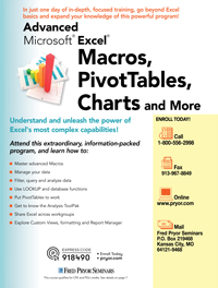 Advanced Microsoft<small><sup>®</sup></small> Excel<small><sup>®</sup></small>-Macros, PivotTables, Charts and More