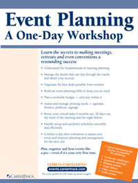 Event Planning -- A One-Day Workshop