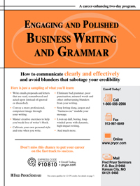 Engaging and Polished Business Writing and Grammar (2-day)
