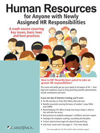 Human Resources for Anyone with Newly Assigned HR Responsibilities
