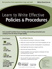 Learn to Write Effective Policies & Procedures