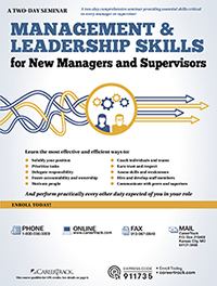 Management & Leadership Skills for New Managers and Supervisors (2-Day)