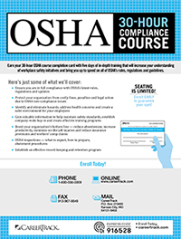 OSHA 30-Hour Compliance Course (5-day)