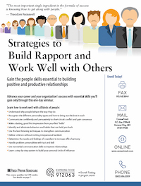 Strategies to Build Rapport and Work Well with Others
