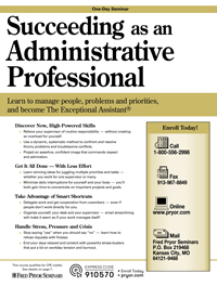 Succeeding as an Administrative Professional