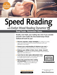 Speed Reading with Evelyn Wood Reading Dynamics<small><sup>®</sup></small>