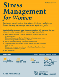 Stress Management for Women (afternoon)