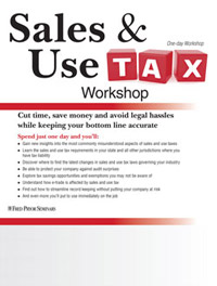 Sales & Use Tax Workshop