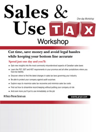 Canadian Sales Tax Workshop