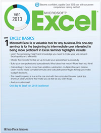 Microsoft<small><sup>®</sup></small> Excel<small><sup>®</sup></small> 2013 Basics