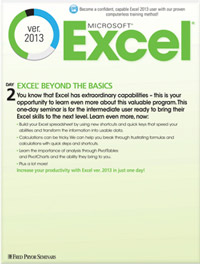 Microsoft<small><sup>®</sup></small> Excel<small><sup>®</sup></small> 2013: Beyond the Basics
