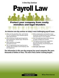 Payroll Law - Canada