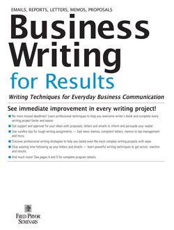Business writing for results a business writing seminar course business writing for results a business writing seminar course pryor learning solutions malvernweather Choice Image