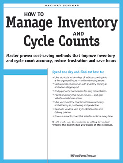 inventory management cycle counts training pryor. Black Bedroom Furniture Sets. Home Design Ideas